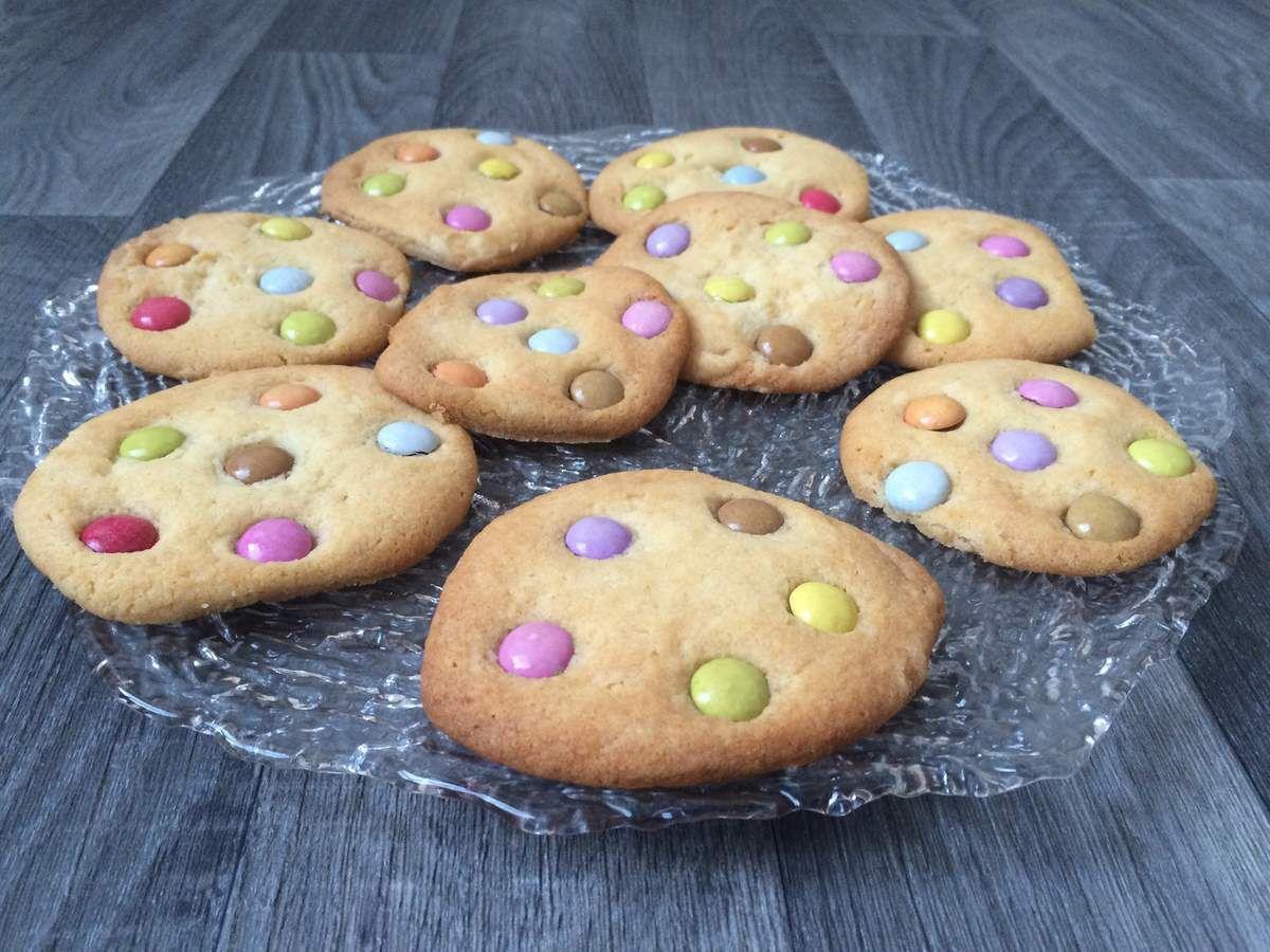 Cookies aux smarties sans oeufs