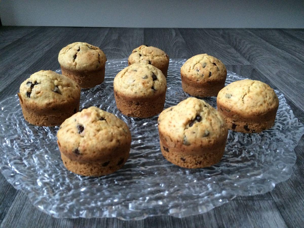 Pancakes muffins aux pépites de chocolat