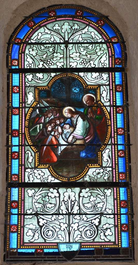 Les vitraux de l'église Ste Marie d' Aubiac
