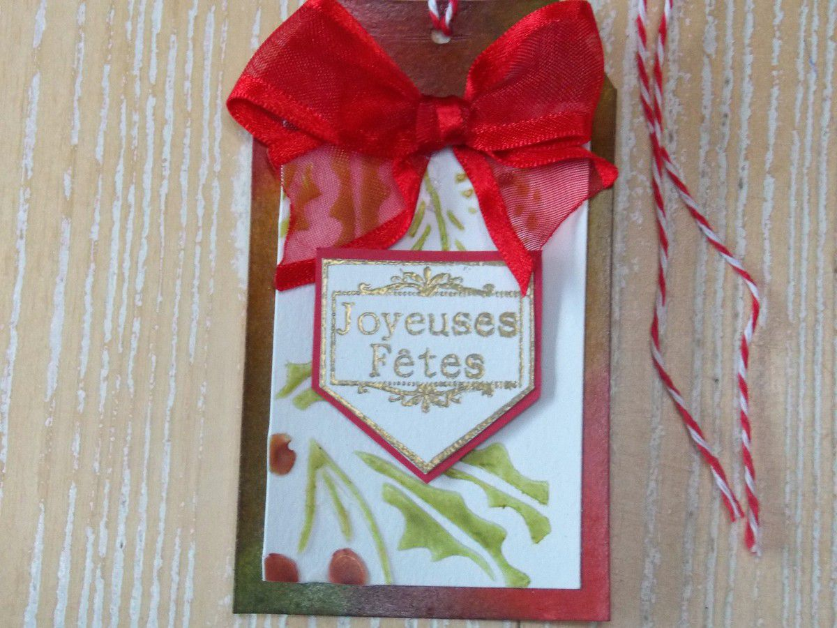 Etiquettes de Noël - Christmas tag holder