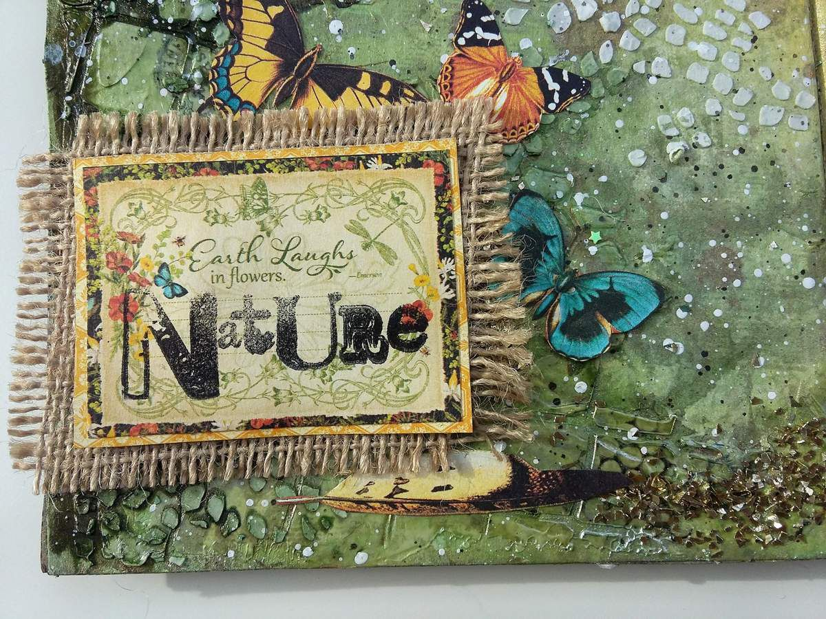 Art Journal Page &quot&#x3B;Nature&quot&#x3B; - Nature Sketchbook Graphic 45