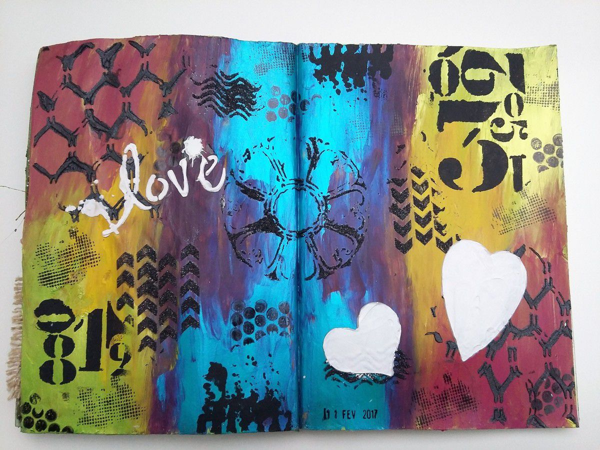 Art journal Page &quot&#x3B;Love&quot&#x3B;