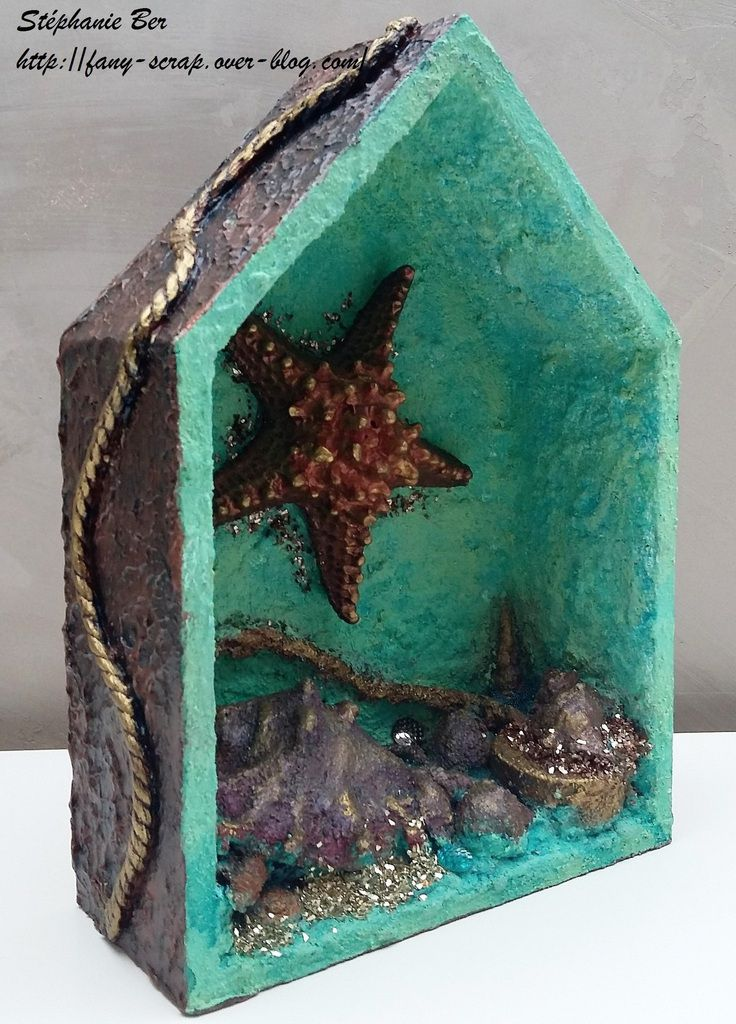 Art Deco Etoile de mer Tutoriel - Art deco Star Fish Tutorial