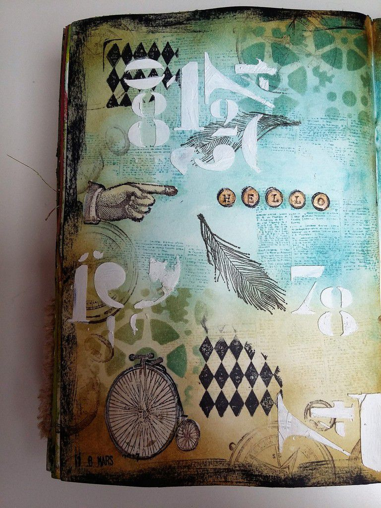 Art journal Page &quot&#x3B;Steampunk&quot&#x3B;