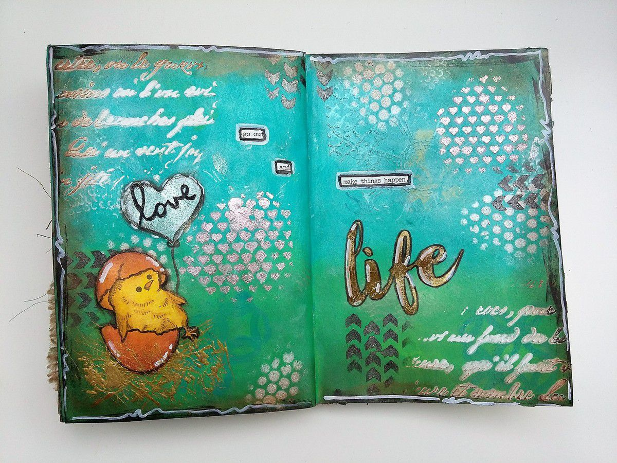 Art Journal Page &quot&#x3B;Make Things Happen&quot&#x3B;