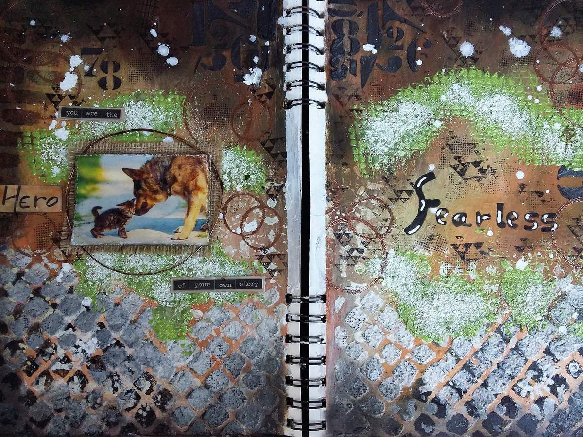 Art Journal Page &quot&#x3B; Hero&quot&#x3B; for More Than Words Challenge