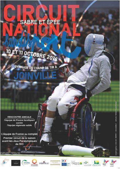 Actualité Compétition Handisport - Circuit National Sabre & Epée - 10 & 11 octobre 2015 à Joinville