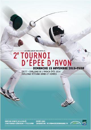 Actualité Actualité Compétition - Epée Vétérans - Challenge 2ème tournoi d'Avon - 15 novembre 2015 à Avon