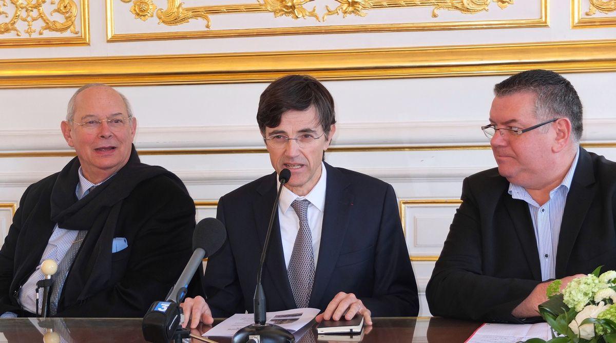 (de gauche à droite) Jean-François Edeline, François de Mazières et Robert Laborie