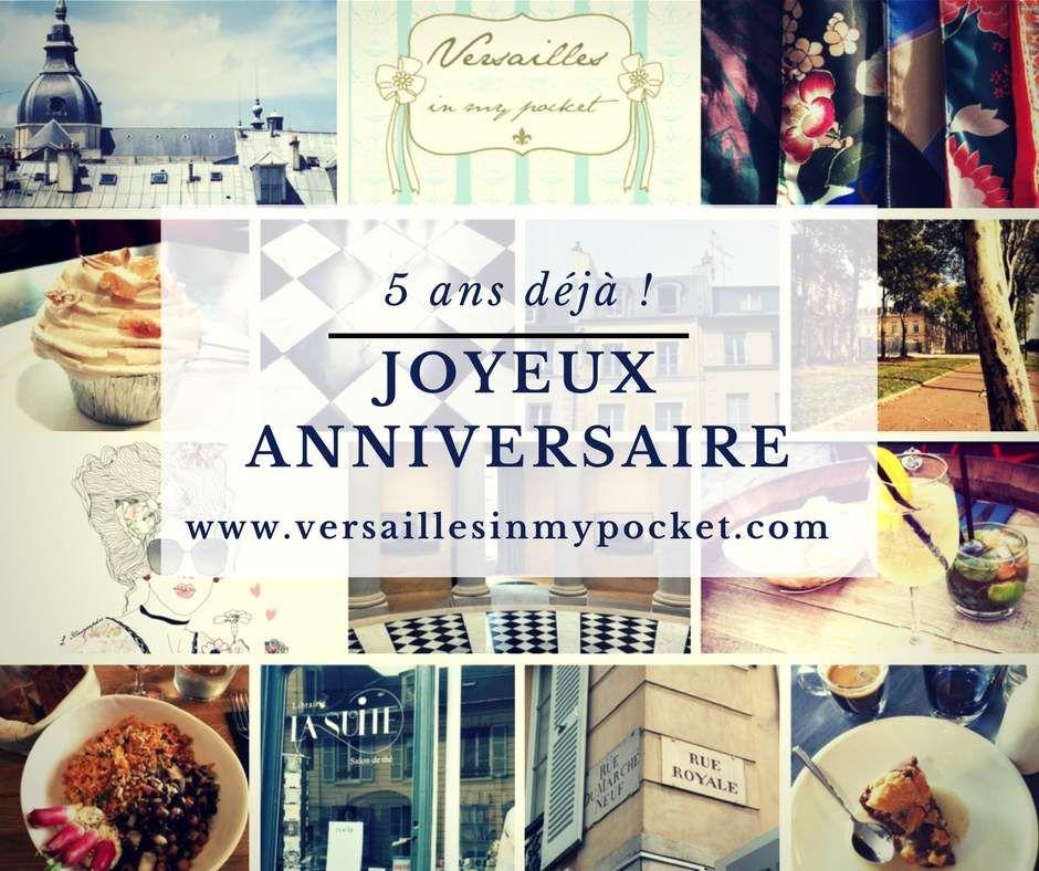 Versailles in my pocket souffle sa 5ème bougie