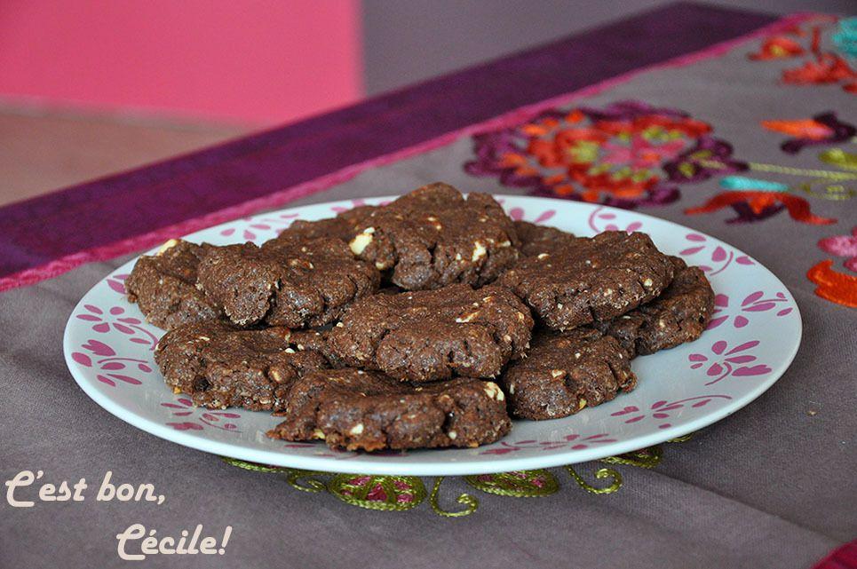 Cookies au chocolat et pépites de chocolat blanc