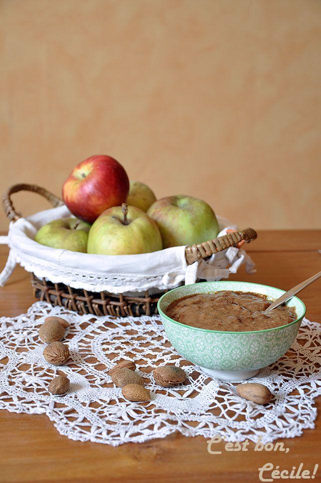 Beurre de pommes (sans beurre) à la purée d'amande complète