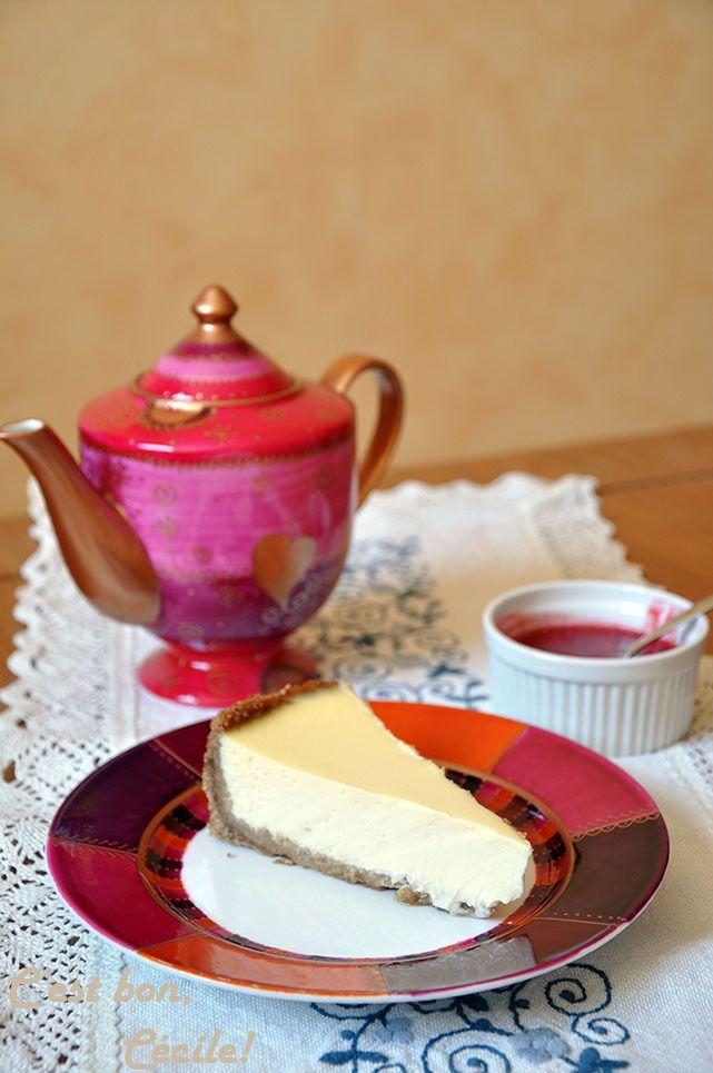 New York Cheesecake et son coulis de Framboise