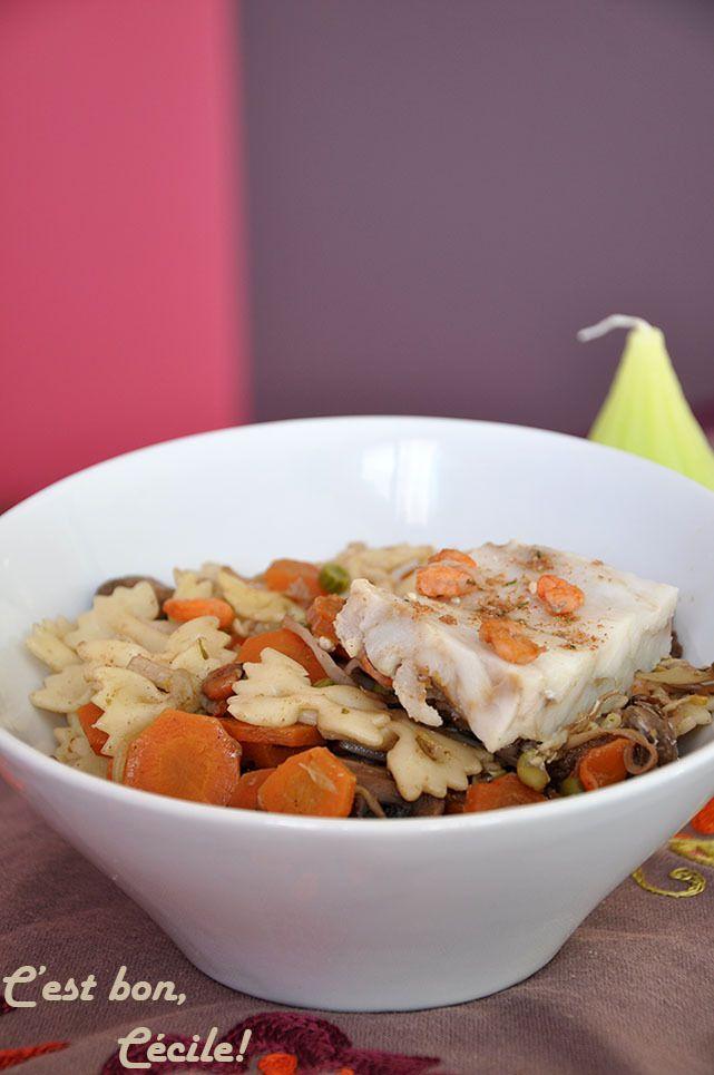 """Presqu'un """"Patasotto"""" aux légumes et épices chinoises aux crevettes/cabillaud ou au poulet (2 versions)"""