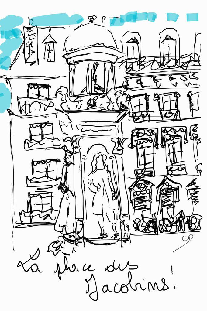 /Nouvel article sur &quot&#x3B;les Chtites Gôneries&quot&#x3B;/Une balade à Lyon...ou quand le stylet de mon smartphone me redonne envie de dessiner!
