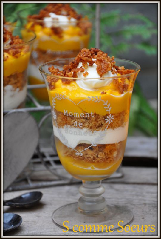 Trifle de Potimarron au pain d'épices