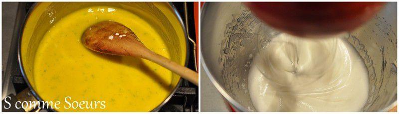 Bûche entremets citron combava, compotée d'ananas vanille bourbon