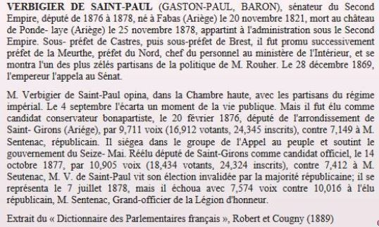 Biographie de Gaston de Verbigier de Saint-Paul  (Source : www.senat.fr)