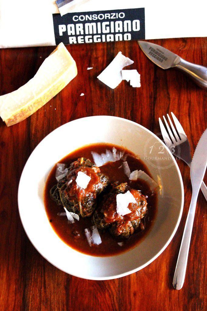 Capu sans Ale ou blettes farcies au Parmigiano Reggiano.