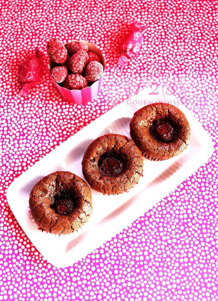 Brownie coeur de framboise