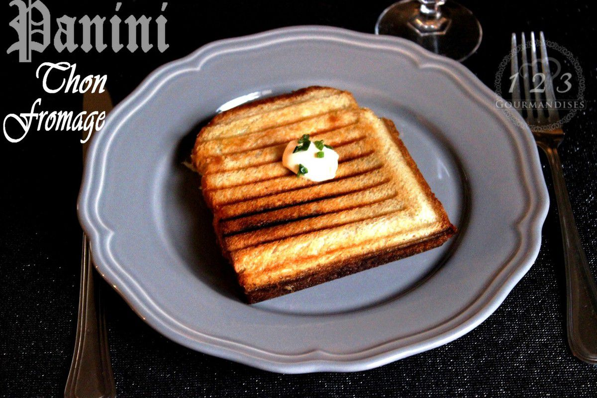 Panini thon et fromage