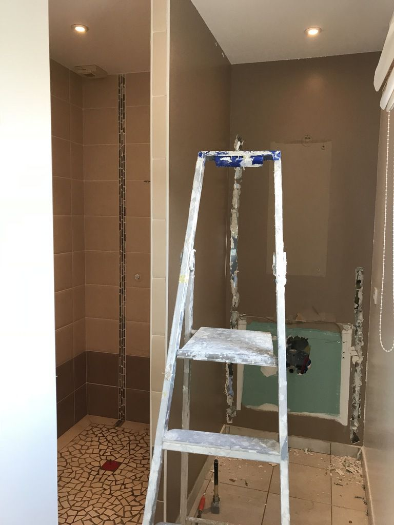 Modification d\'une salle de bain/wc - Les travaux d\'Eric