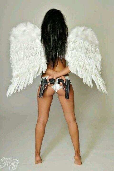 Femme - Brune - Sexy - Angel - Picture - Free