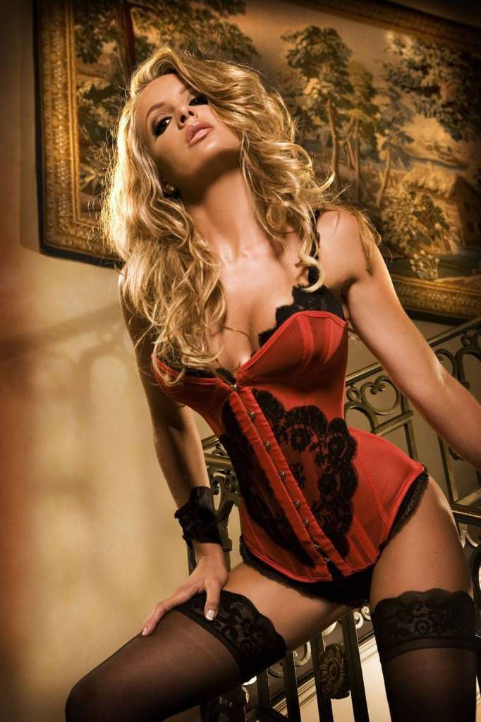Femme - Blonde - Sexy - Lingerie - Corset - Picture - Free