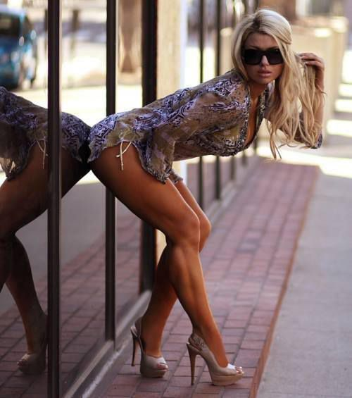 Femme - Blonde - Sexy - Lunettes - Picture - Free
