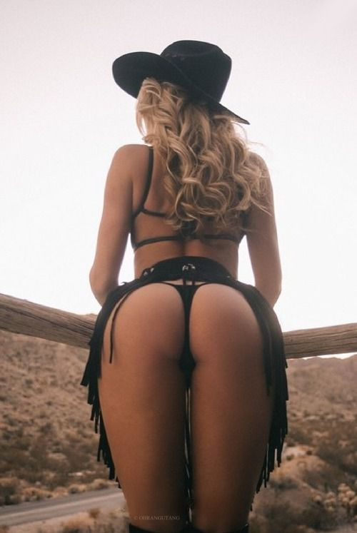 hot naked chicks wearing chaps