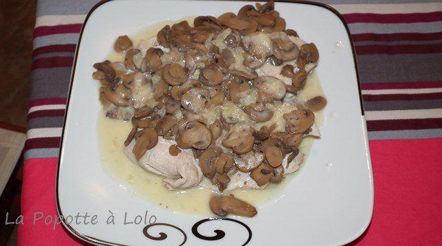 Escalopes de dinde à la crème et champignons au thermomix