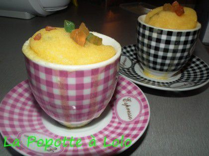 Mug Cake aux fruits confits