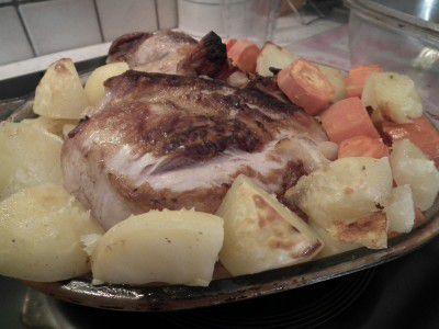 Palette de porc au four en cocotte