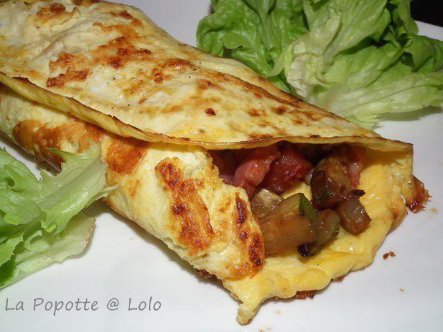 Omelettes roulées aux légumes du soleil