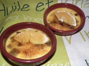 Crème brûlée à l'orange et spéculoos