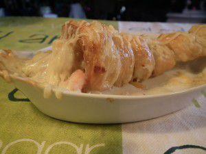 Cornets aux crevettes