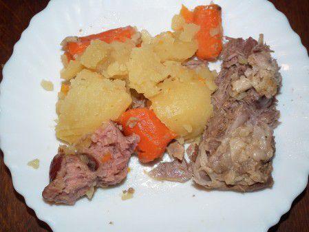Palette de porc aux petits légumes