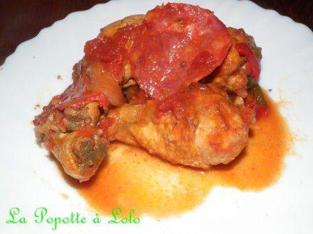 Sauté de poulet au chorizo