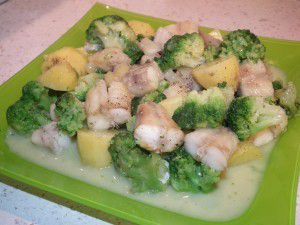 Queues de Lottes, sauce brocoli (thermomix)