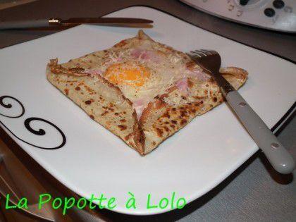 Cr pes au sarrasin farcie l uf jambon et fromage la popotte lolo - Crepe au thermomix ...