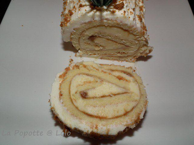 Bûche chocolat blanc- Spéculoos