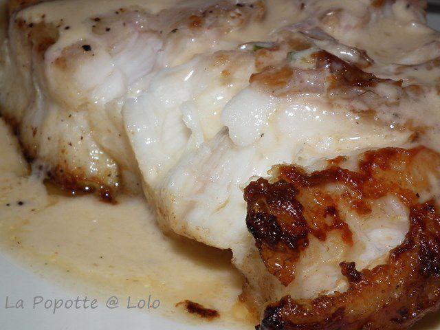 Filet de Loup, sauce aux échalotes
