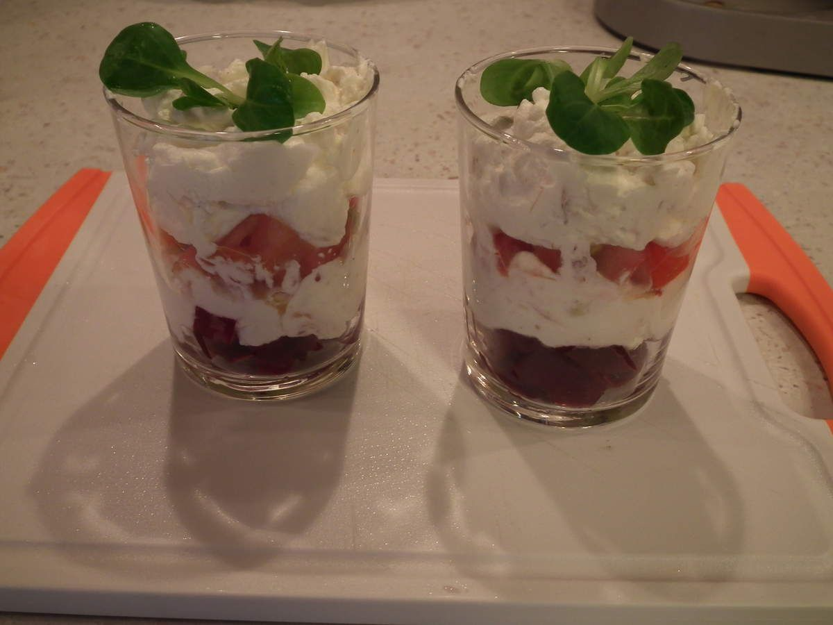 Verrine de tomates et Betteraves