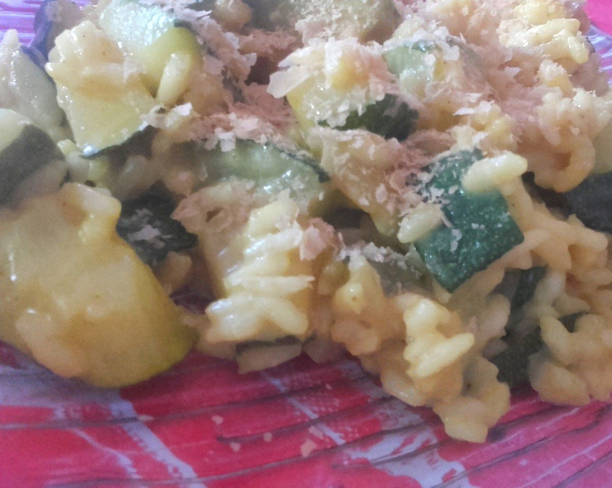 Risotto courgettes/coco/curry