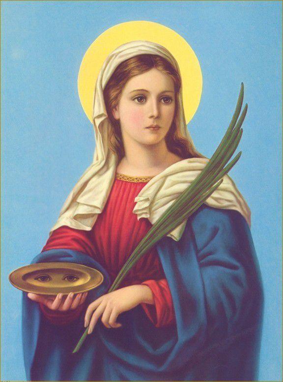Saint Lucie + 303 Fête le 13 Décembre Vierge et martyre