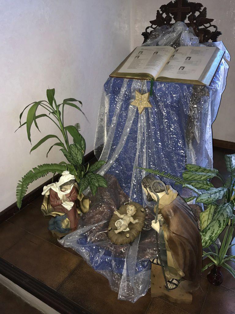 Crèche dans la chapelle de l'évêché