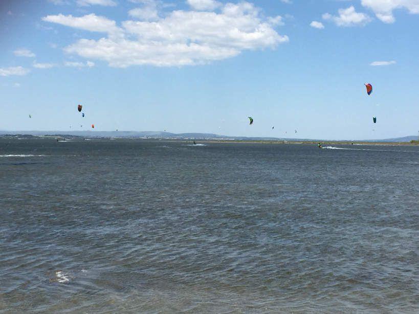 Retour en kite sur le spot de maldormir