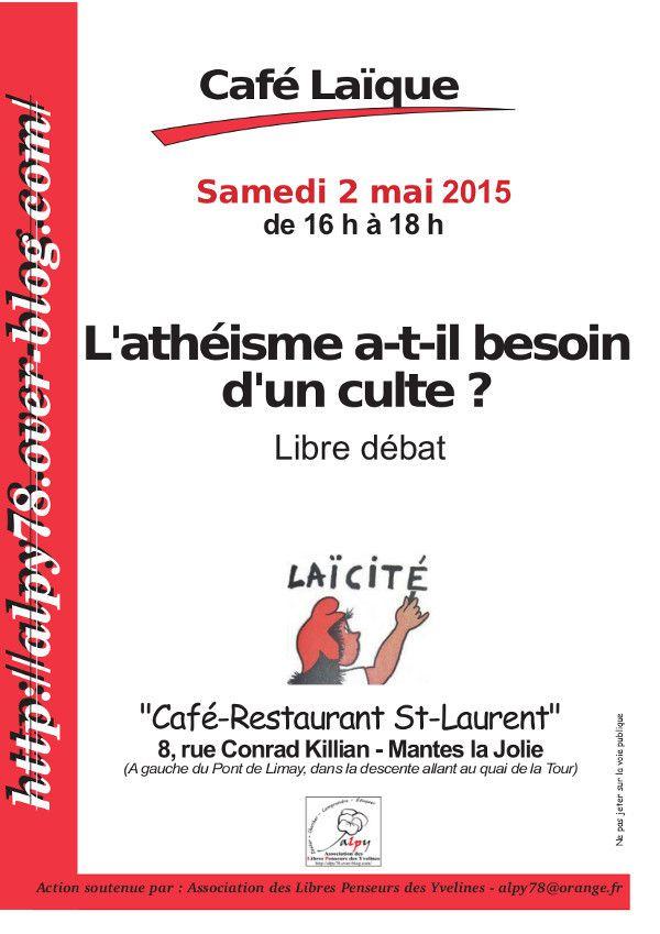 Café laïque à Mantes la Jolie