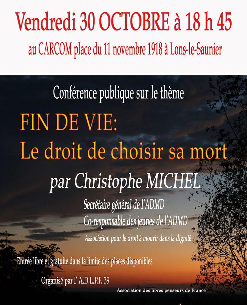 Conférence à Lons le Saunier - 30 octobre 2015