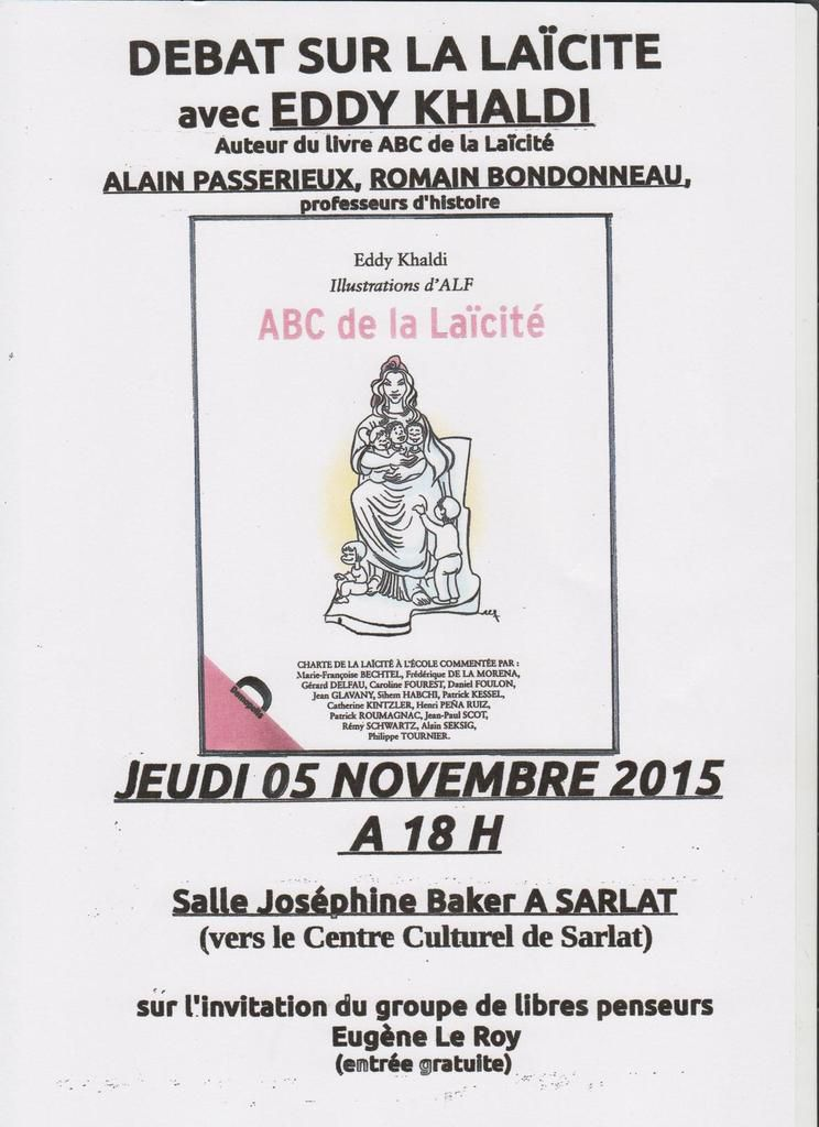 Conférence Khaldi à Sarlat le 5 nov. 2015